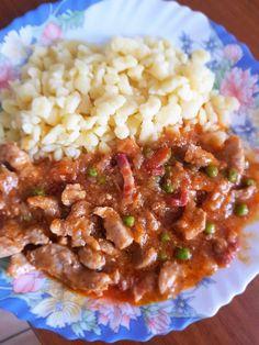 Shrimp Recipes Easy, Pork Recipes, Cooking Recipes, Hungarian Cuisine, Hungarian Recipes, Good Food, Yummy Food, Pork Dishes, Food 52