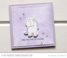 For the Love of Paper: magical unicorns: MFT Stamps May Release Countdown // one of a kind Rainbow Card, Paper Smooches, Card Tricks, Mft Stamps, Magical Unicorn, Animal Cards, Cards For Friends, Copics, Digital Stamps
