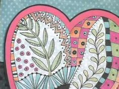 ZENTANGLES YOUTUBE VIDEO - GREAT IDEAS :) Learn new ways to jazz up cards, scrapbook pages, art journals, and ATCs using pens and templates. Draw the tangles, then learn how to color with chalks, watercolors, pencils and pens. Add bling to your tangles with glitter, jewels, and sparkly inks. You'll have great fun playing with tangles!