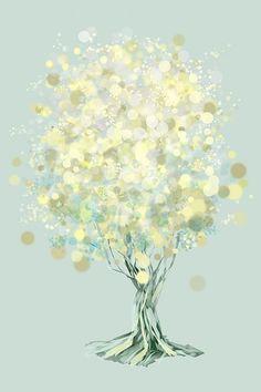 Lemon Bubble Tree - 12x18 Print. $35.00, via Etsy.