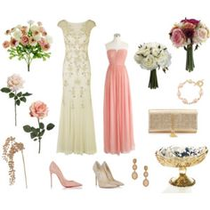Blush and Beige Glam Wedding with products from afloral.com for the DIY bride #diywedding