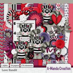 Love Bandit Kit #thestudio #digiscrap #digitalscrapbooking