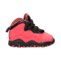 Girls' Toddler Jordan Retro 10 Basketball Shoes featuring polyvore shoes baby shoes baby stuff baby things kids