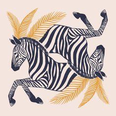 Zebras, an art print by Ash Weaver Zebra Illustration, Tattoo Illustration, Pattern Illustration, Zebra Drawing, Circle Drawing, Bullet Art, Lion Painting, Dance Art, Zebras