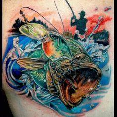 Bass fishing INK~ tattoos