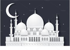raya mosque vector by lyeyee on @creativemarket