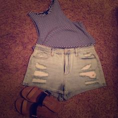 High waisted shorts NWOT. Super cute and trendy. Bought them, but didn't like the way they fit. Let me know if you have any questions! (: *from F21, not brandy* Brandy Melville Shorts Jean Shorts