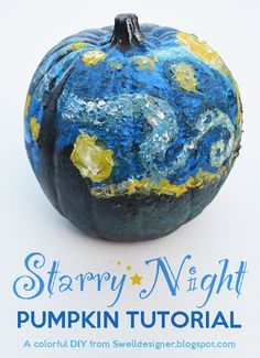Channel a master this Halloween season and make this Van Gogh-inspired pumpkin.