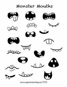 Resultado de imagen para como hacer bocas monstruos manga