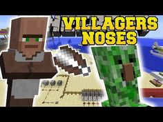 Minecraft: VILLAGERS NOSES MOD (CHOP OFF NOSES, WEAR THEM, GROW VILLAGERS, & MORE!) Mod Showcase - YouTube Minecraft Mods, Bob Ross, Mini Games, New Job, Hama Beads, Random Stuff, Hero, How To Plan, Youtube