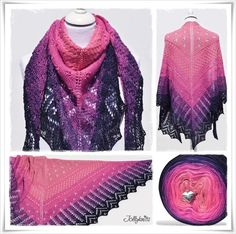 Strickanleitung Lacetuch Cape Daisy / Knitting Pattern Lace Shawl Cape Daisy