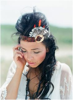 Bohemian feather head band.The hair is a little kray-kray, but I love the idea of the band...