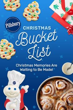 Cherish the holiday season with 32 fun ideas for the family. Christmas memories are waiting to be made and the Pillsbury Christmas Bucket List is here!