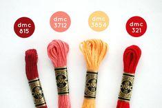 Find folk-inspired embroidery floss colors to use in your next stitching project. Diy Bracelets Patterns, Thread Bracelets, Bracelet Designs, String Bracelets, Cross Stitch Floss, Wild Olive, Diy Friendship Bracelets Patterns, Dmc Embroidery Floss, Bracelet Crafts
