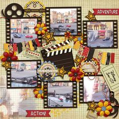 Kits used ~  Now Showing by Scrap Orchard Designers  Template by Cheryl of Fiddle Dee Dee Designs