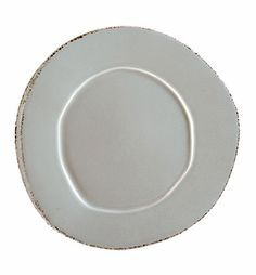 So excited to get this in gray and white for my new dishes… VIETRI - Lastra Gray Dinner Plate