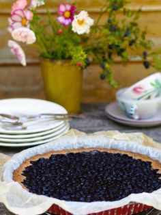 Cakes And More, Summer Recipes, Tart, Blueberry, Nom Nom, Food And Drink, Pie, Pudding, Sweets