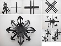 paper snowflakes not Diy Christmas Star, Diy Christmas Ornaments, Christmas Projects, Christmas Holidays, Snowflake Craft, Paper Snowflakes, Paper Stars, Holiday Crafts, Fun Crafts