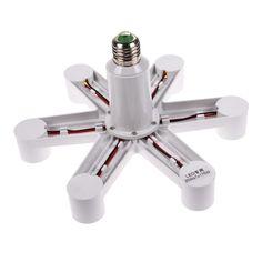 Buy 1 To 4 / 7 2 Douille Socket Base LED Splitter Plug Halogen Light Lamp Holder Copper Contact Adapter Converter Bulb Hold Light Bulb Adapter, Light Bulb Bases, Lamp Bases, Lamp Light, Socket Holder, Lamp Socket, Lamp Bulb, Phone Holder, 12v Led