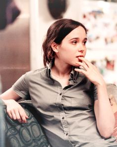 Ellen Page on the set of Woody Allen's To Rome With Love (2012).
