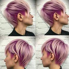 Deine kurzen Haare färben? Dann wähle einen sanften Pastellton! Lass Dich von diesen 12 schönen Kurzhaarfrisuren in Pastelltönen inspirieren … - Neue Frisur