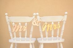 Mr & Mrs Chair Sign Tutorial