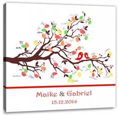 Fingerabdruck Baum - Hochzeitstauben Fingerabdruck