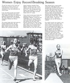 Recap of Oregon women's track & field 1978-79. From the 1979 Oregana (University of Oregon yearbook). www.CampusAttic.com