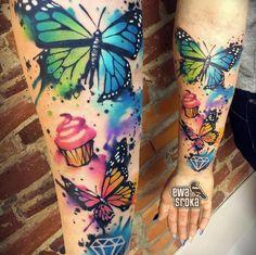 Watercolor butterflies by Ewa Sroka