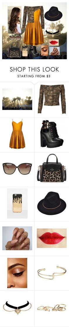 """""""Being Different is Good"""" by marine081698 ❤ liked on Polyvore featuring Faith Connexion, Linda Farrow, Kate Spade, Missguided, GUESS and Marc Jacobs"""