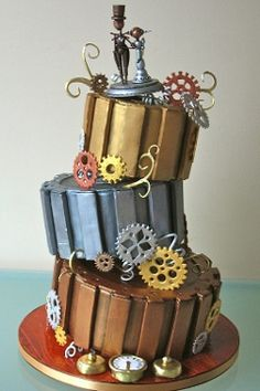 the people's cake steampunk wedding cake