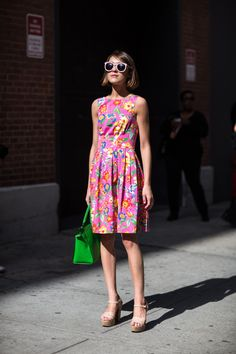 she's just so cute. #EllaCatliff in NYC. #LaPetiteAnglais #NYFW