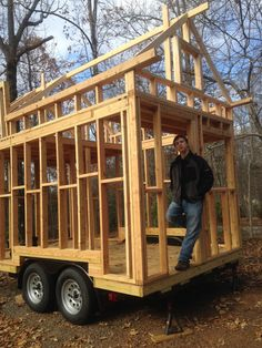 Tiny Trailers, Tiny House Trailer, Truck House, Trailer Diy, Trailer Build, Best Tiny House, Building A Tiny House, Tiny House Living, Tiny House Design