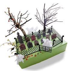 Ghostly Graveyard Halloween Craft -- mini using an altoid tin