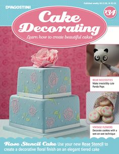 In this weeks issue of #CakeDecorating, learn how to create irresistibly cute #PandaPops, decorate your #cookies with a wet-on-wet technique, and get your hands on our new #RoseStencil