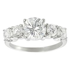 Journee Collection Sterling Round-cut Basket-set Cubic Zirconia Ring