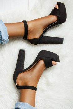Black High Heels Women Shoes, from FashionGirlShoes - .- Black High Heels Women Shoes, from FashionGirlShoes – # Check more at frauenschuhe. High Heels Boots, Black High Heels, Pumps Heels, Black Heels Outfit, High Shoes, Shose Heels, Black Heels For Prom, Black Sandal Heels, Black Closed Toe Heels