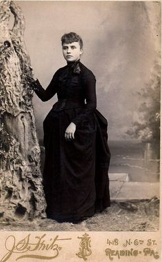 Young Woman in Mourning, Albumen Cabinet Card, 1887