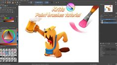 Krita brushes tutorial - How to use the color mixing brushes - YouTube