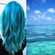 Blue hair like the ocean - The new hair color trend New Hair Color Trends, New Hair Colors, Hair Trends, Modern Bob Haircut, Ocean Hair, Unnatural Hair Color, Bobs For Thin Hair, Thin Hair Haircuts, Ombre Hair Color