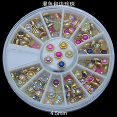 2015 New arrival bright colour metal  nail art stone for decoration accessories in different colors #Affiliate