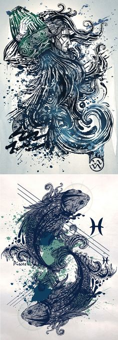 Zodiac Signs Illustrations by Nhộng Creative Studio and Justin Khuong Source: behance.net