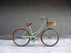 Heidi, Velocommute Bike.  Just my color, and love it with the brown tires.  Stylin' while ya be ridin'.  Oh yeeeah.