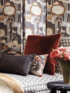 New for Fall 2015 from Cowtan & Tout, an elegant mix of velvet, printed and embroidered fabrics.