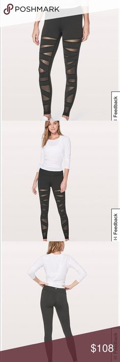 Lululemon Wunder Under Pant Hi-Rise Worn twice on walks. Never worn to workout in. For more info about style, sizing please google style name ✌🏼 I always get the two materials mixed - it's not the shiny one if that helps. lululemon athletica Pants Leggings