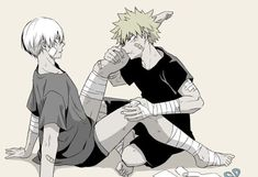 Bakugou Katsuki x Todoroki Shouto / Boku no Hero Academia My Hero Academia Shouto, Hero Academia Characters, Anime Characters, Anime Couples Manga, Cute Anime Couples, Anime Manga, Sharingan Kakashi, Naruto, Cute Anime Guys
