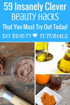 Discover 50+ different DIY Beauty hacks, makeup tutorials, and home-made beauty product ideas that you can try out today!    https://makeuptutorials.com/diy-beauty-tips-and-tricks/    DIY make-up, DIY make-up storage, DIY make-up organization, DIY make-up bag, DIY make-up brush holder, beauty hacks, beauty tips, make up, make-up ideas, make-up products, make-up storage, make-up looks, skin care, skin care routine, skin care tips, skincare products,, natural make-up, natural eye make up.