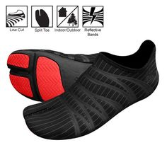Runners know: A good pair of shoes makes all the difference between a great workout and a painful one. Running barefoot. The smart solution? ZEMgear's 360 Ninja Split Toe running shoes. Me Too Shoes, Men's Shoes, Shoe Boots, Tabi Shoes, Nike Shoes, Yoga Shoes, Toe Running Shoes, Ninja Gear, Tenis Casual