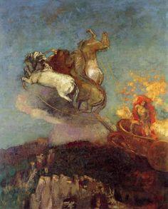 Odilon Redon: Apollo's Chariot (1907)