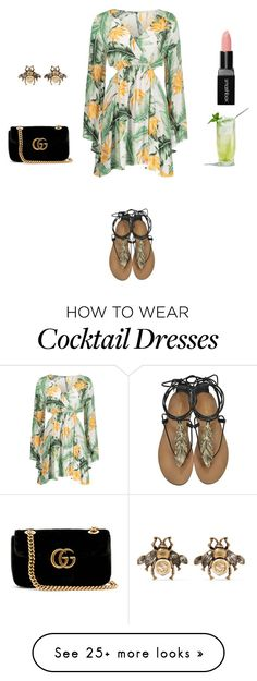 """""""Untitled #879"""" by doinabarsan on Polyvore featuring Roberto Cavalli, Gucci and Smashbox"""